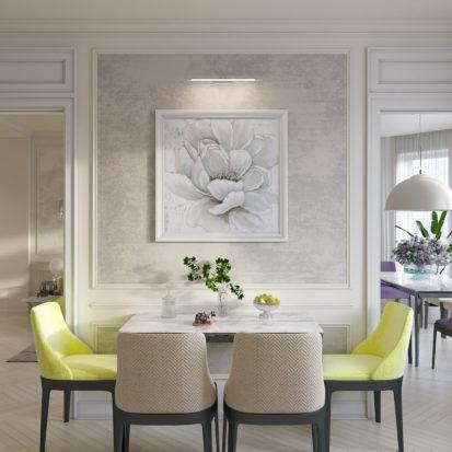 Дизайн интерьера кухни неоклассика
