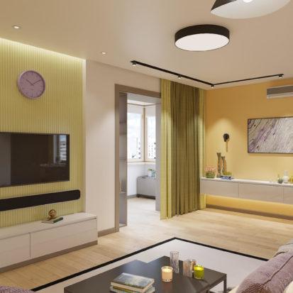 Дизайн квартиры Киев - Гостиная дизайн интерьера Киев