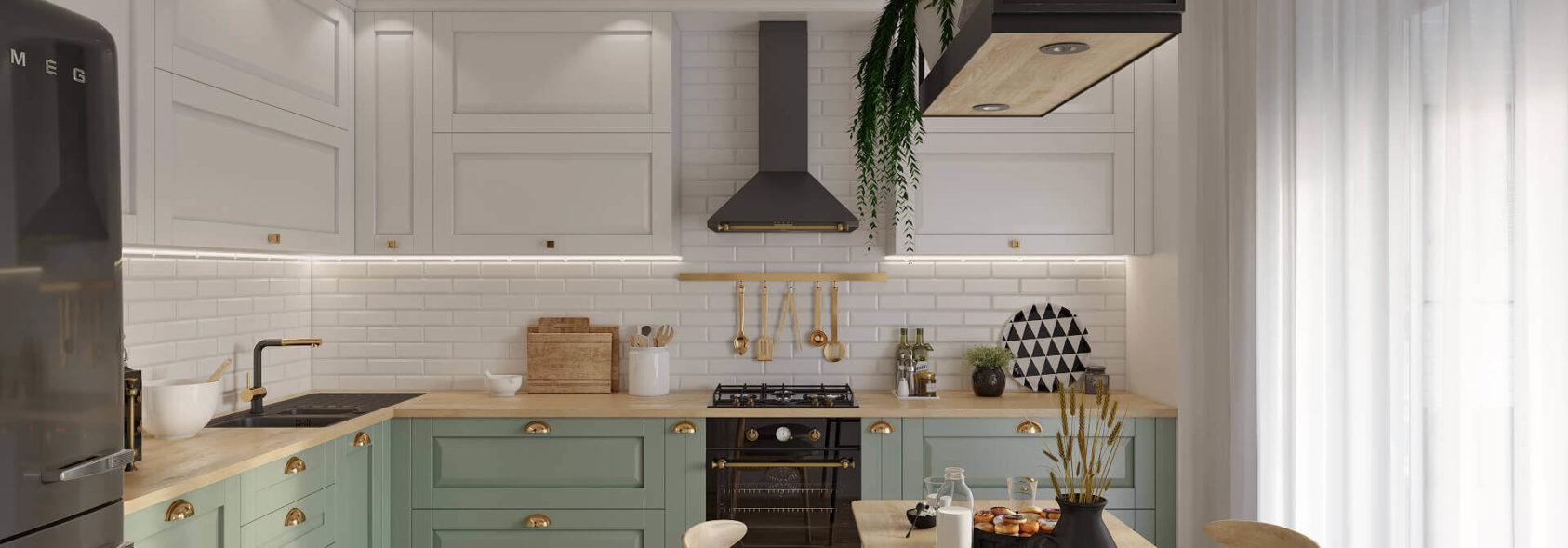 Дизайн интерьера квартиры Днепр кухня