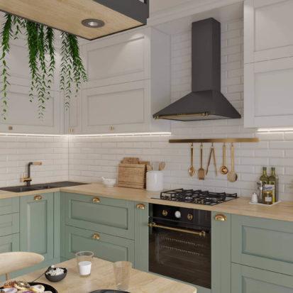 Дизайн интерьера кухни в скандинавском стиле Днепр