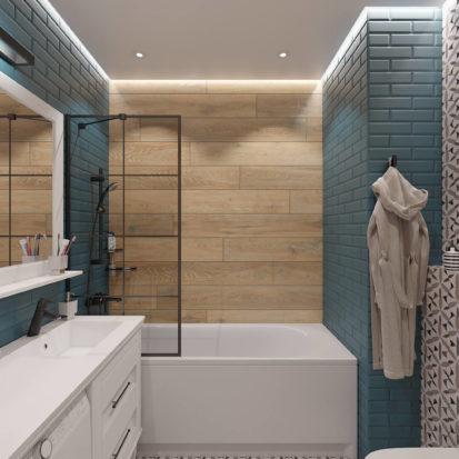 Интерьер ванной в скандинавском стиле Днепр