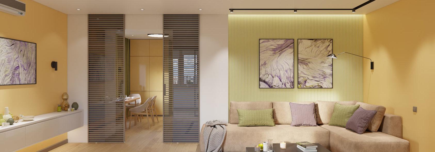Дизайн квартиры Киев - Интерьер гостиной