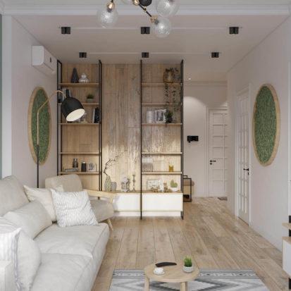 Дизайн интерьера квартиры Днепр - гостиная