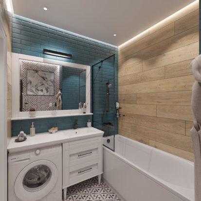 дизайн туалета в скандинавском стиле Днепр