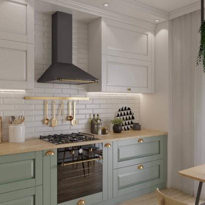 дизайн кухни в скандинавском стиле в Днепре