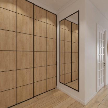дизайн интерьера однокомнатной квартиры прихожая Днепр