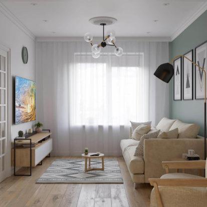 дизайн проект квартиры Днепр - гостиная