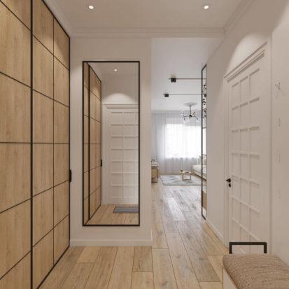 интерьер однокомнатной квартиры прихожая Днепр
