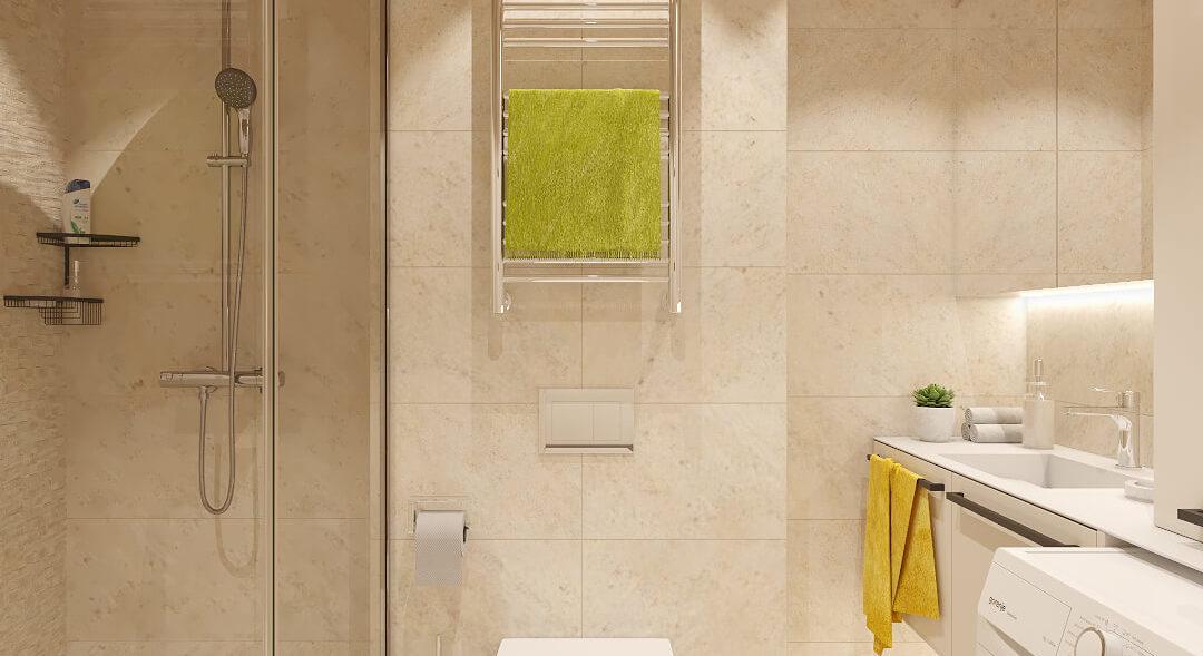Дизайн ванной в 2х комнатной квартире Днепр