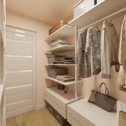 Дизайн гардеробной в 2х комнатной квартире Днепр