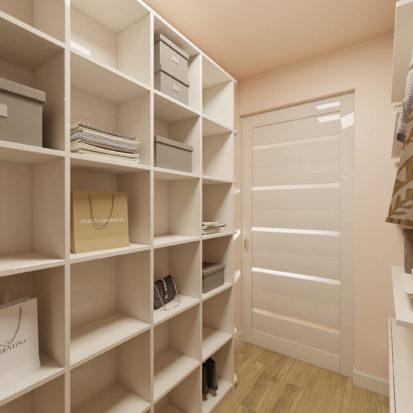 Дизайн гардеробной в 2х комнатной квартире