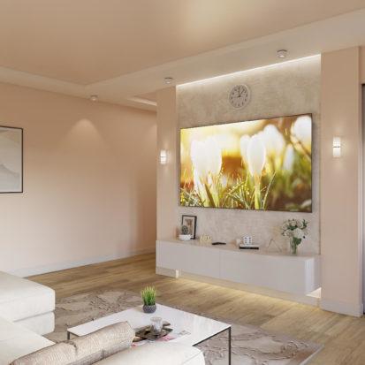 Дизайн гостиной в 2х комнатной квартире Днепр