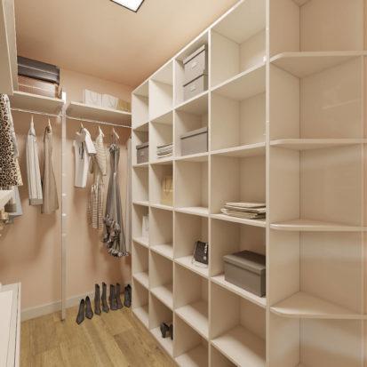 Дизайн двухкомнатной квартиры Днепр гардеробная
