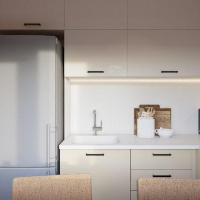 Дизайн двухкомнатной квартиры Днепр кухня