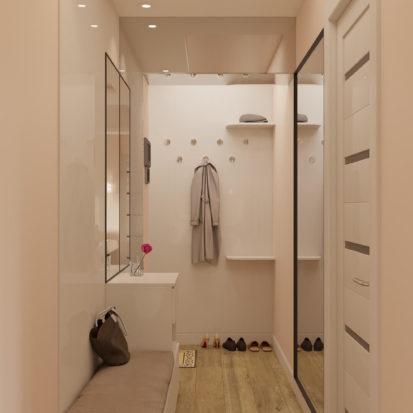Дизайн двухкомнатной квартиры Днепр прихожая
