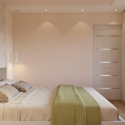 Дизайн двухкомнатной квартиры Днепр спальня