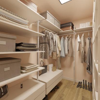 Дизайн двухкомнатной квартиры гардеробная