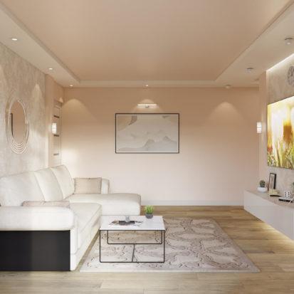 Дизайн интерьера двухкомнатной квартиры Днепр