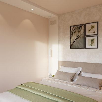 Дизайн интерьера спальни в двухкомнатной квартире