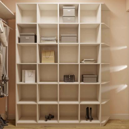 Дизайн интерьера 2х комнатной квартиры Днепр гардеробная