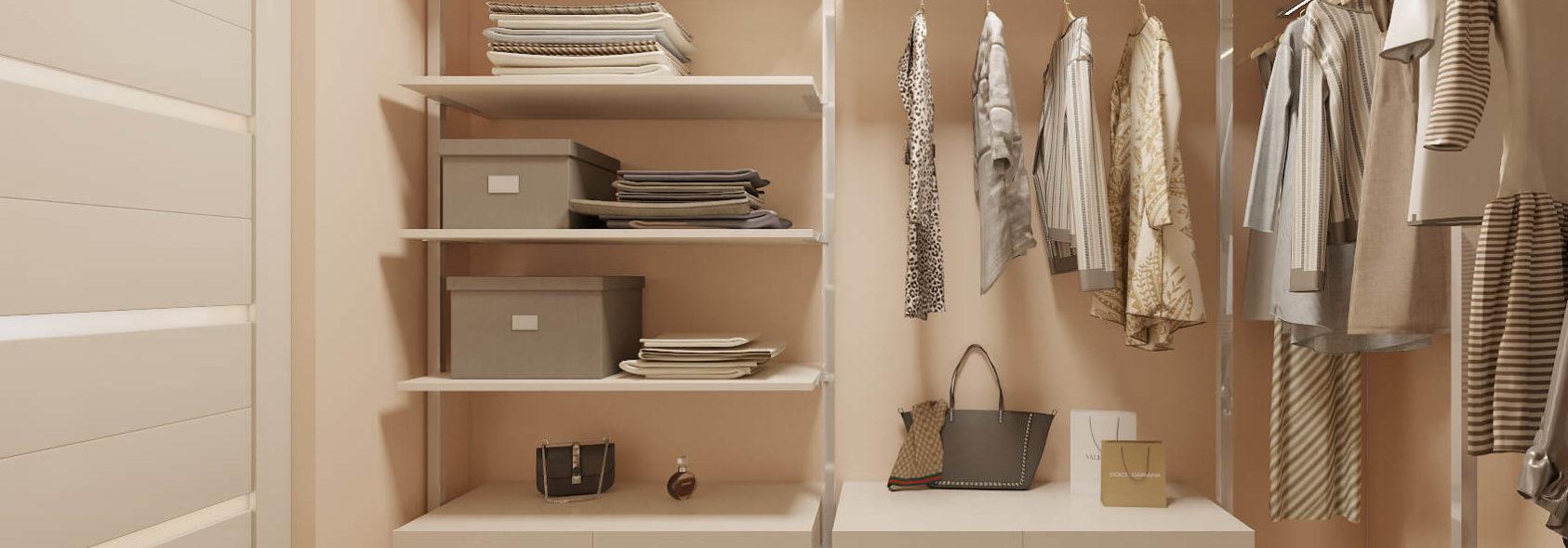 Дизайн интерьера 2х комнатной квартиры гардеробная