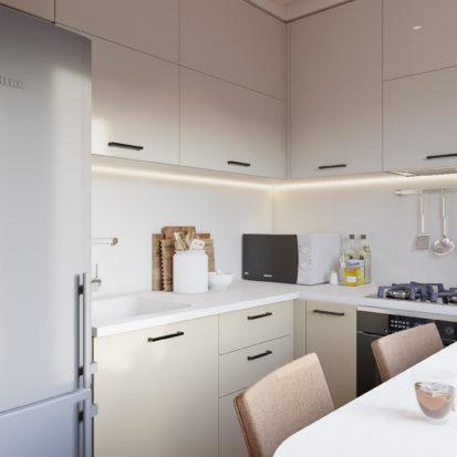 Дизайн кухни в 2х комнатной квартире