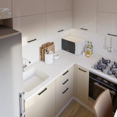 Дизайн кухня в двухкомнатной квартире Днепр