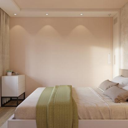 Дизайн спальни в 2х комнатной квартире Днепр