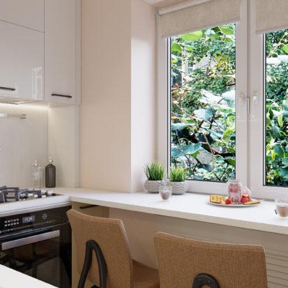 Дизайн 2х комнатной квартиры кухня
