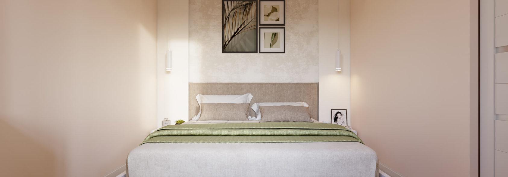 Интерьер спальни в 2х комнатной квартире Днепр