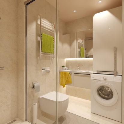 Сан узел в дизайне двухкомнатной квартиры