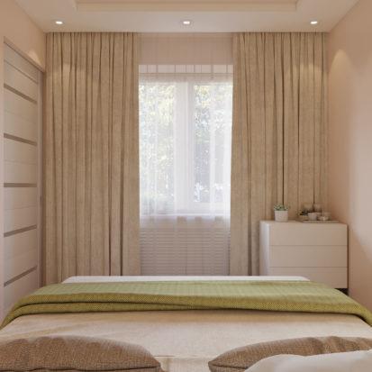 Спальня в двухкомнатной квартире Днепр