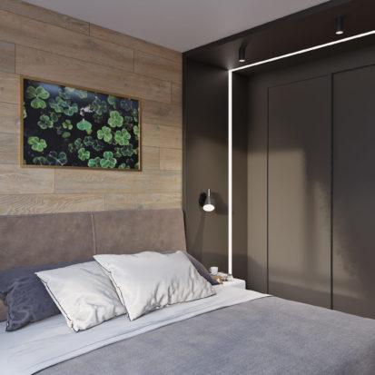 Дизайн гостевой спальни в трехкомнатной квартире Киев