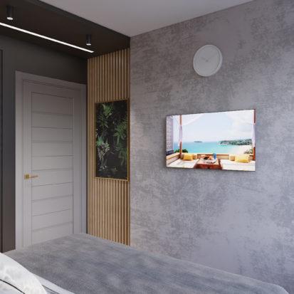 Дизайн гостевой спальни лофт минимализм