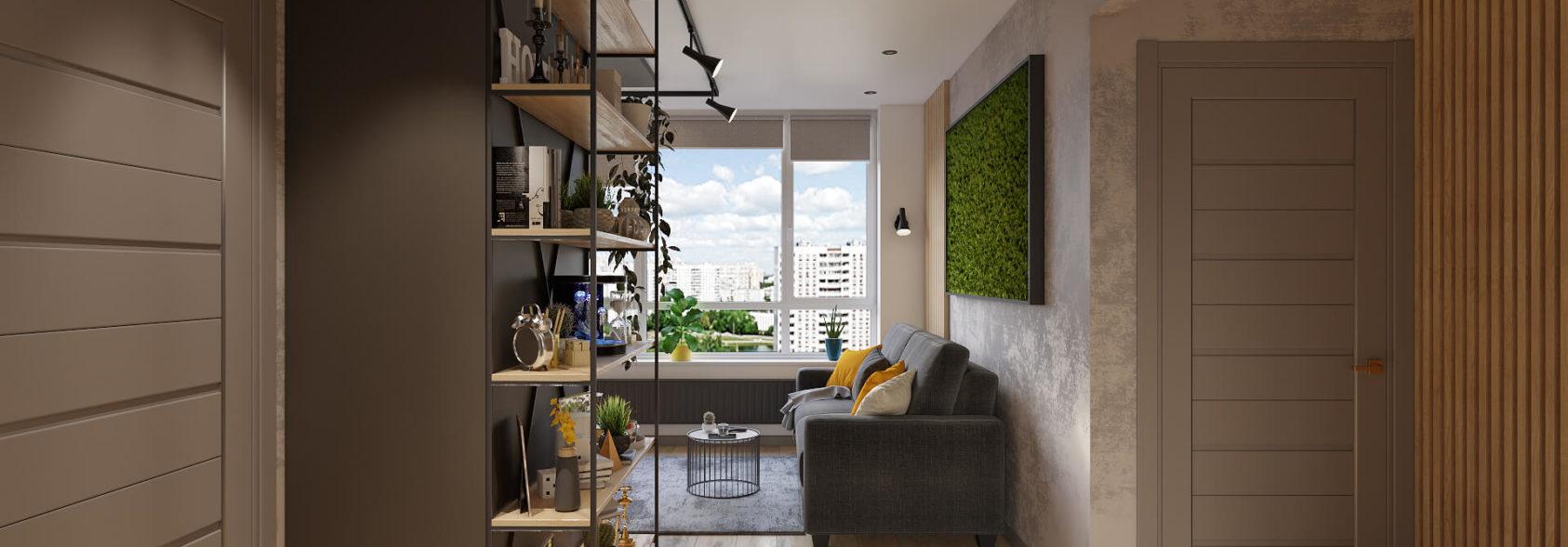 Дизайн гостиной в трехкомнатной квартире Киев