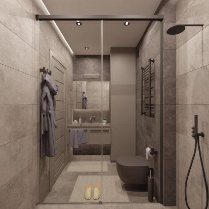 Дизайн интерьера ванной в квартире Киев