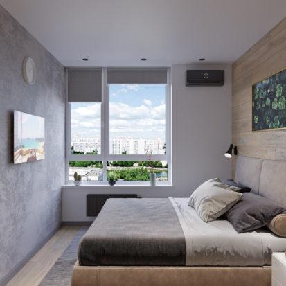Дизайн интерьера гостевой спальни Киев лофт минимализм