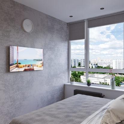 Дизайн интерьера гостевой спальни в трехкомнатной квартире Киев