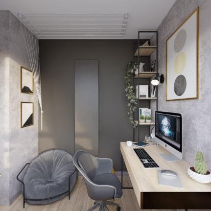 Дизайн интерьера кабинета в квартире Киев