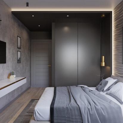 Дизайн интерьера спальни Киев лофт минимализм
