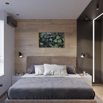 Дизайн интерьера трехкомнатной квартиры Киев гостевая спальня