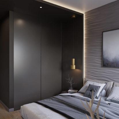 Дизайн интерьера трехкомнатной квартиры Киев спальня
