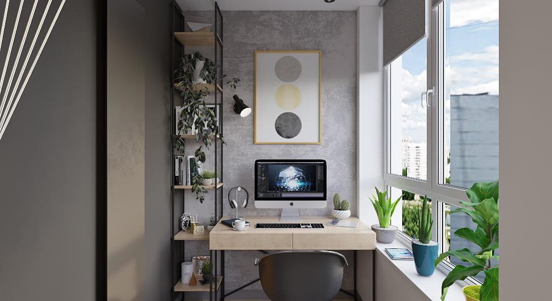 Дизайн кабинета в квартире Киев