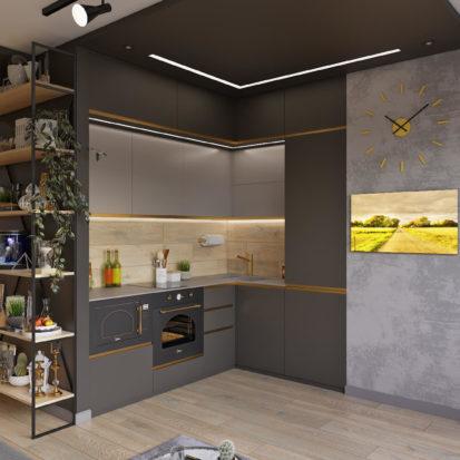 Дизайн проект трехкомнатной квартиры Киев