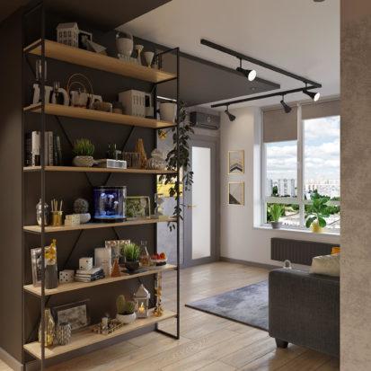 Дизайн проект трехкомнатной квартиры прихожая Киев