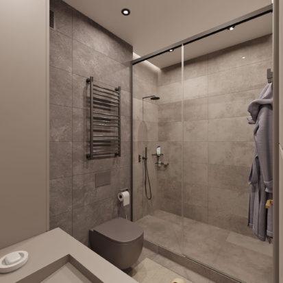 Дизайн санузла в трехкомнатной квартире Киев