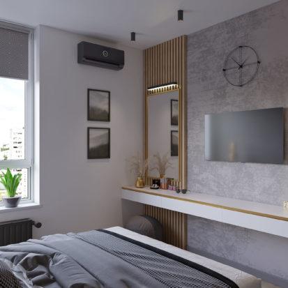 Дизайн спальни в трехкомнатной квартире Киев
