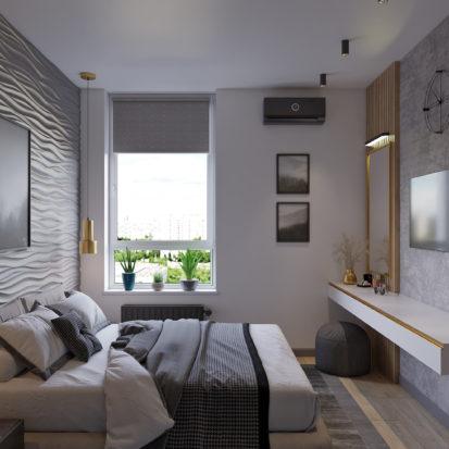 Дизайн спальни лофт минимализм