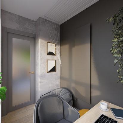 Дизайн трехкомнатной квартиры Киев балкон