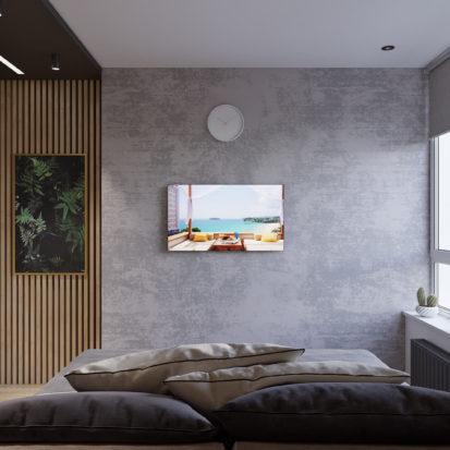 Дизайн трехкомнатной квартиры Киев гостевая спальня